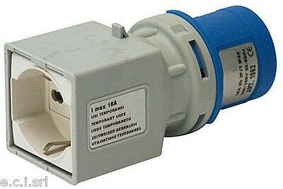 1081560 Adapter Cee 3 Pole 16 a / 230 V IP 44, Plug Cee, Socket It