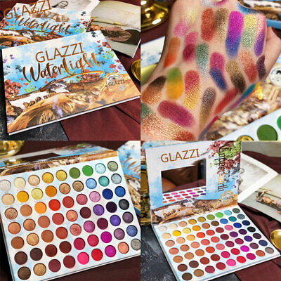 GLAZZI Makeup Cosmetic Shimmer Matte Naked 63Colors Pigment Eyeshadow Palette xj