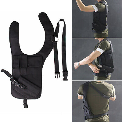 Tactical Concealment Underarm Shoulder Holster Single Bag With Additional Pouch