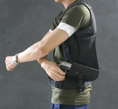 Concealed Underarm Shoulder Holster and Additional Pouch bag For Pistol Carry
