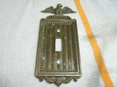 Vintage Eagle Single Light Switch Plate Wall Outlet Cover Metal NL CO Industrial