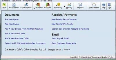 Invoice Software Windows small Business Invoice / Inventory/ customers software