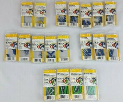 Hillman Assorted Plastic Anchors - NEW IN BOX