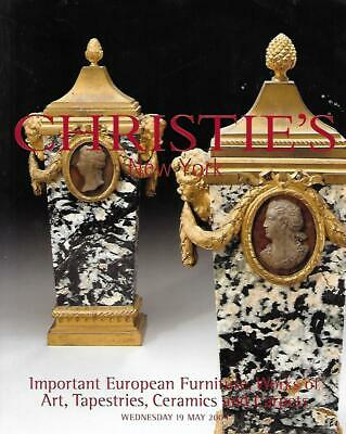 Christie's European Furniture Tapestries Ceramics Carpets Auction Catalog 2004