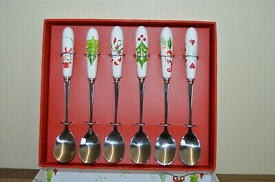 Portmeirion Christmas Wish Set of 6 Tea Spoons BNIB