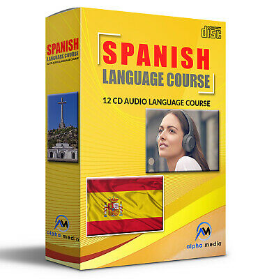 SPANISH Language Course on 12 AUDIO CD learn Spanish learn to speak spanish
