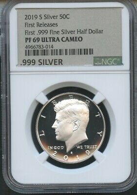 2019 S First .999 Fine Silver Kennedy First Releases NGC PF69 UC New Label