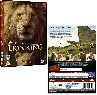 THE LION KING (2019): Live Action, Animation, Adventure - NEW Eu Rg2 DVD not US