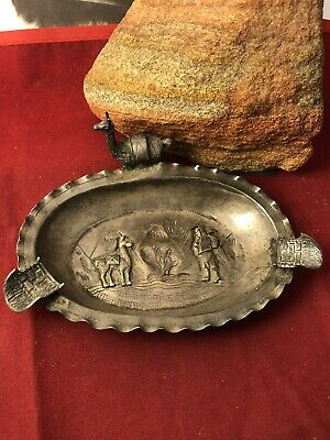 OLD MF Peru sterling figural llama storyteller incense dish OLPN 092719aD@
