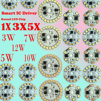 Patch lamp beads 1X 5X 10X LED Light Chip SMD 2835 Round Smart IC Driver