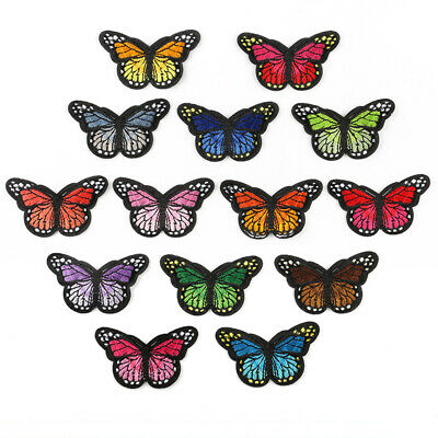 Butterfly Badge Patch Embroidered Sew Iron On Patches Badge Fabric Applique DIY