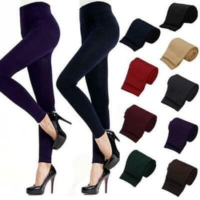 Women Winter Warm Thick Fleece Lined Stretchy Thermal Slim Leggings Pants