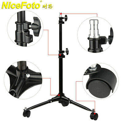 Nicefoto LS-70 Photography Background Light Stand w/ Foldable Legs Caster Wheels