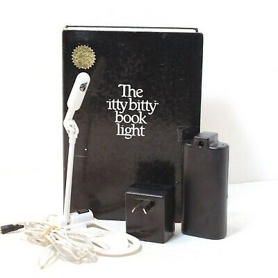 The Original Itty Bitty Book Light Complete Tested & Working VTG Reading Zelco