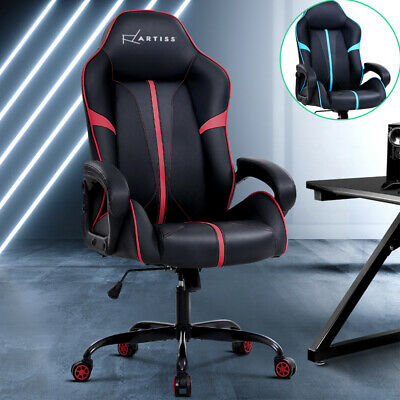 Gaming Chair Office Computer Chairs Seat Racer Racing Executive Black Red Blue