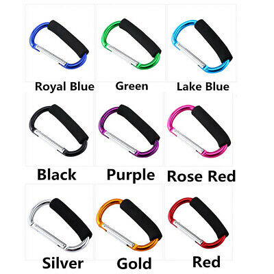 Buggy Clips Coloured Large Pram Pushchair Shopping Bag Hook Mummy Carry Clip RY