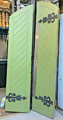 Pair of large, green vintage 'church' doors – may suit that special renovation!