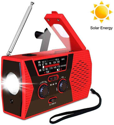 Wind Up Solar Radio Hand Crank Dynamo AM/FM/NOAA Weather Radios...