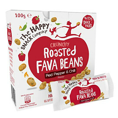 The Happy Snack Company Roasted Fava Beans, Red Pepper and Chilli Flavour...