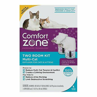 Comfort Zone MultiCat Diffuser for Cats and Kittens Pack of 2