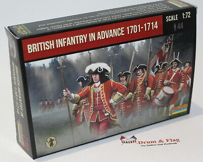 Strelets #230 - British Infantry in Advance 1701-1714. WSS. 1/72 Scale Figures.