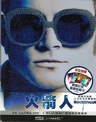 Rocketman Limited Edition 4K SteelBook w/Slip (Region A, B & C Taiwan Import)