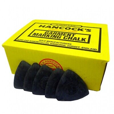 Hancock's Garment / Fabric Marking Tailors Chalk Triangles Black- Pack of 50
