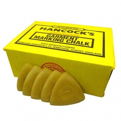 Hancock's Garment / Fabric Marking Tailors Chalk Triangles Yellow- Pack of 12