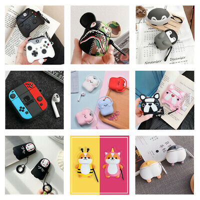 3D Cute Cartoon Silicone Airpod Protective Case Cover Skin for Airpods 1/2/Pro 3