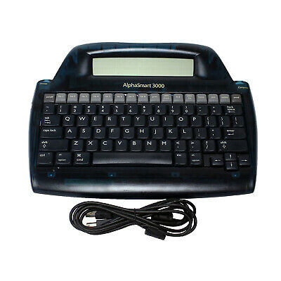 AlphaSmart 3000 Portable Laptop Keyboard Word Processor with USB cable