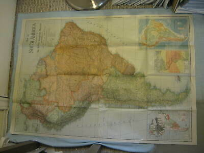 ANTIQUE MAP OF SOUTH AMERICA National Geographic October 1921 XLNT