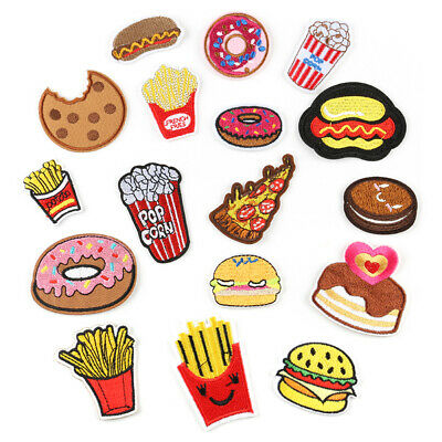 DIY French fries Embroidered Sew Iron On Badge Patches Clothing Fabric Applique