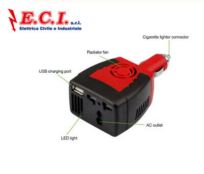 Onever Inverter 12 V 220 V 150 W of Power cc a Ca 12 V a 220 V Cigarette