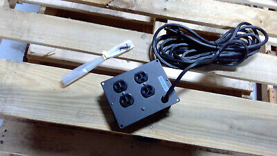 BRETFORD-4 OUTLET POWER SUPPLY STRIP WITH SWITCH-EC SERIES 10 AMPS-125 VOLTS