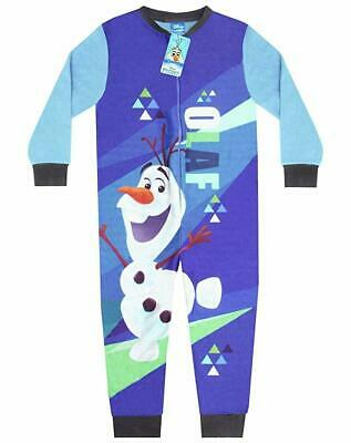 Kids Disney Frozen Fleece All In One Sleepsuit Pyjamas Pjs Nightwear Boys Gift