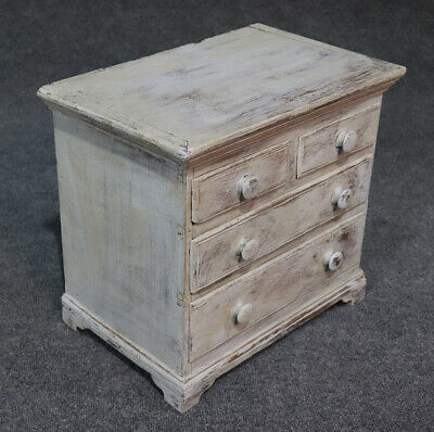Rare Antique 1840s Era Salesmans Sample Painted Dresser Jewelery Box