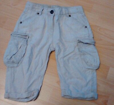 Girls cropped stone coloured combats.  Age 7 years.  From Next.
