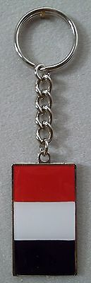 Walt Disney Epcot Center French France Flag Vintage Collectors Keychain NEW