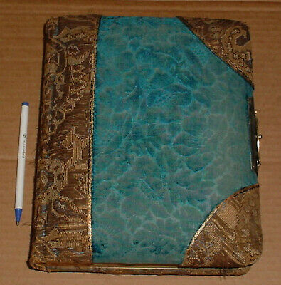 Antique Large Ornate Pre 1900 Photo Album Full Nice Condition Watertown N.Y.
