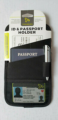 Travelon Id and Boarding Pass Holder Black NEW