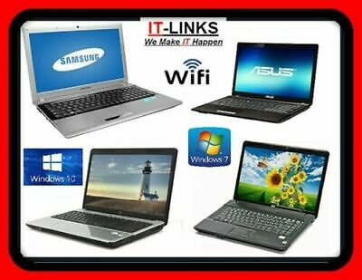 CHEAP FAST DUAL CORE LAPTOP WINDOWS 7 or 10 OS, 2GB 3GB 4GB RAM WITH WARRANTY