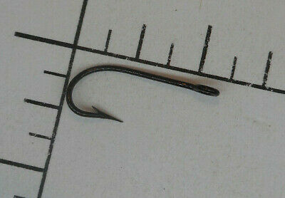 100 MUSTAD no.9 FLY TYING Kendal KIRBY HOOKS RINGED RUSTPROOF EXTRA STRONG 4165