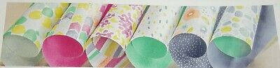 Stampin Up Retired NATURALLY ECLECTIC Designer Series Paper 10 Sheets