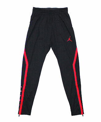 NWT NIKE JORDAN Men's Black-Red Jumpman Dri-Fit Tapered Slim-Ankle Pants Joggers