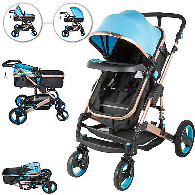 Baby Pram Stroller Pushchair Carrycot Foldable Pushchair for Baby & Toddler