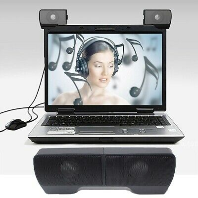 Computer Speaker for PC Laptop Desktop Stereo Soundbar USB Powered Loud Style