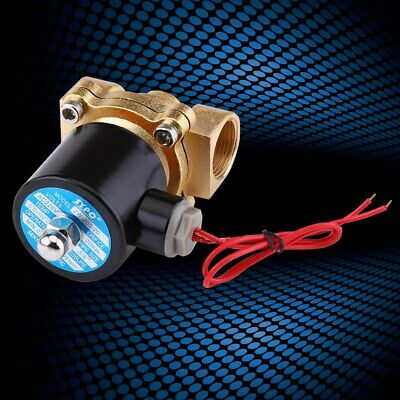 """NC Electric Solenoid Valve Zinc Alloy Body for Water Oil Air Gas AC 220V 3/4"""""""