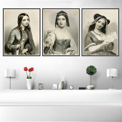 Portrait Beauty Canvas Poster Picture Wall Hangings Corridor Home Room Art Decor