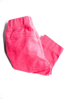 Il Gufo Girls Baby Velour Pants Elastic Waist Hot Pink Cotton Size 6M