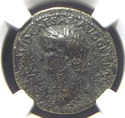 Authentic AE Dupondius of Roman Emperor Nero, NGC Certified 1019